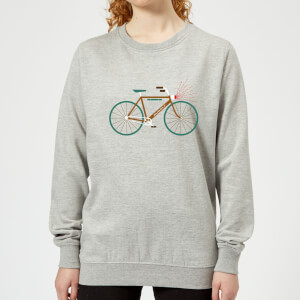 Rudolph Bike Women's Christmas Sweatshirt - Grey