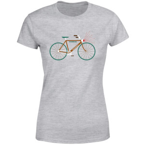 Rudolph Bike Women's Christmas T-Shirt - Grey