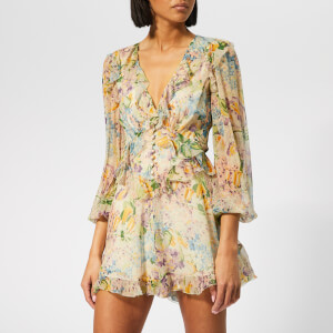 Zimmermann Women's Ninety-Six Flutter Playsuit - Tulip Floral