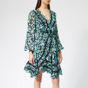 Zimmermann Women's Moncur Wrap Short Dress - Meadow Floral