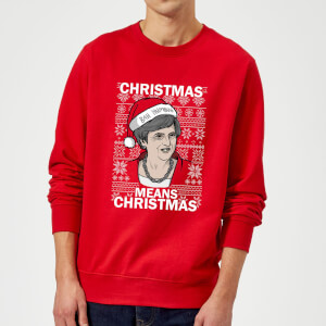 Christmas Means Christmas Christmas Sweatshirt - Red