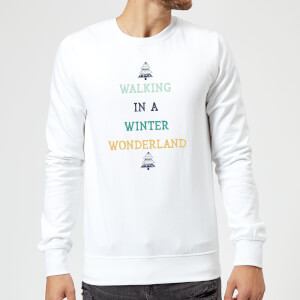 Walking In A Winter Wonderland Christmas Sweatshirt - White