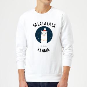 Fa La La La Llama Christmas Sweatshirt - White