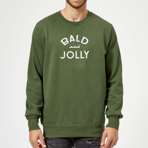 Bald and Jolly Christmas Sweatshirt - forest Green