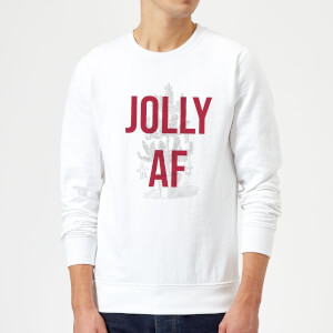 Jolly AF Christmas Sweatshirt - White