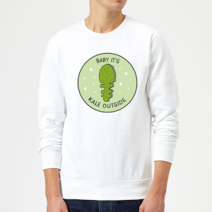 Baby It's Kale Outside Christmas Sweatshirt - White