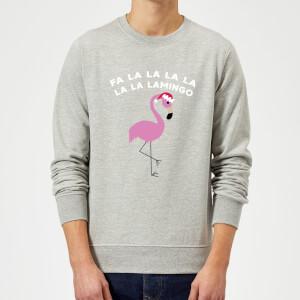 Fa La La La La La La Lamingo Christmas Sweatshirt - Grey