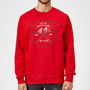 Up To Snow Good Christmas Sweatshirt - Red