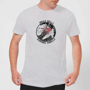 Jungle Bells, Surfing Swells Men's Christmas T-Shirt - Grey