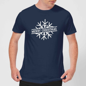 Merry Christmas Men's Christmas T-Shirt - Navy