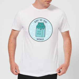 Soy To The World Men's Christmas T-Shirt - White