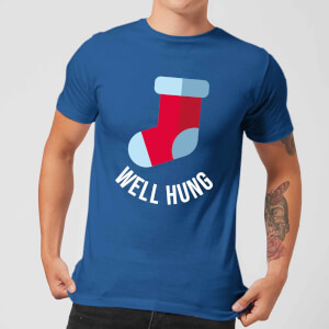 Well Hung Men's Christmas T-Shirt - Royal Blue