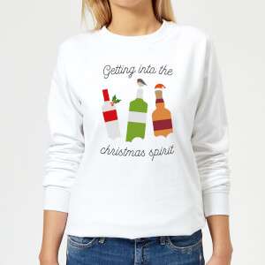 Getting Into The Christmas Spirit Women's Christmas Sweatshirt - White