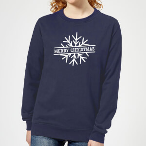 Merry Christmas Women's Christmas Sweatshirt - Navy