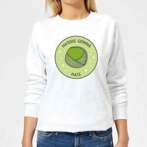 Haters Gonna Hate Women's Christmas Sweatshirt - White