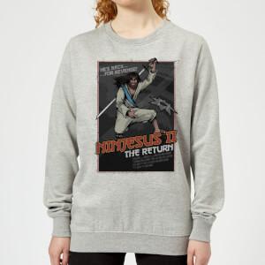 Ninjesus 2: The Return Women's Christmas Sweatshirt - Grey