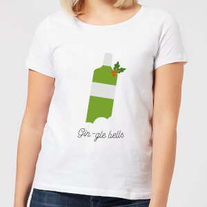 Gin-gle Bells Women's Christmas T-Shirt - White