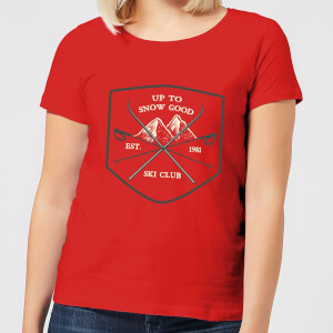 Up To Snow Good Women's Christmas T-Shirt - Red