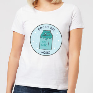 Soy To The World Women's Christmas T-Shirt - White