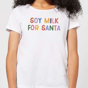 Soy Milk for Santa Women's Christmas T-Shirt - White