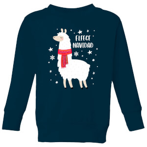 Fleece Navidad Kids' Christmas Sweatshirt - Navy