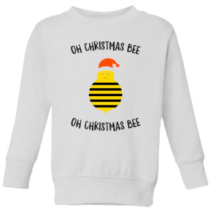 Oh Christmas Bee Oh Christmas Bee Kids' Christmas Sweatshirt - White