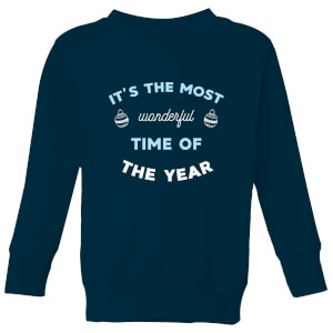 It's The Most Wonderful Time Of The Year Kids' Christmas Sweatshirt - Navy
