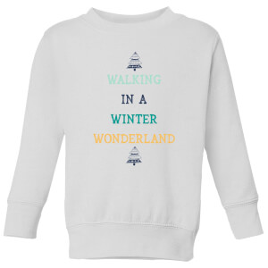 Walking In A Winter Wonderland Kids' Christmas Sweatshirt - White