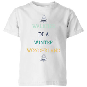 Walking In A Winter Wonderland Kids' Christmas T-Shirt - White