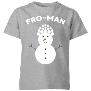 Fro-Man Kids' Christmas T-Shirt - Grey