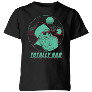 Totally Rad Christmas Kids' T-Shirt - Black