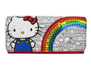 Loungefly Hello Kitty 40th Sequins Rainbow Wallet