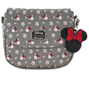 Bandolera Estampada - Disney Loungefly - Minnie Mouse - Gris