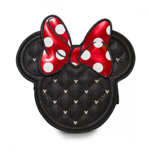 Loungefly Disney Mickey Mouse Minnie Mouse Die Cut Quilted Cross Body Chain Bag
