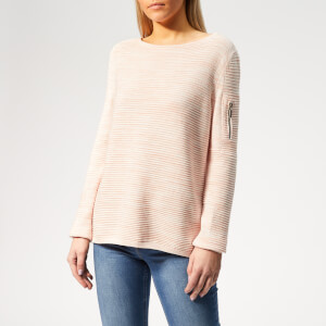 Barbour International Women's Hartle Knitted Jumper - Rose/White