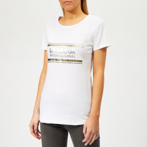 Barbour International Women's Black Flag T-Shirt - White