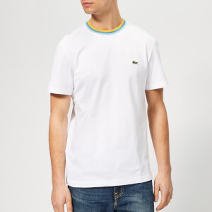 Lacoste Men's Contrast Collar T-Shirt - White