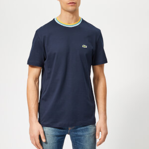 Lacoste Men's Contrast Collar T-Shirt - Navy