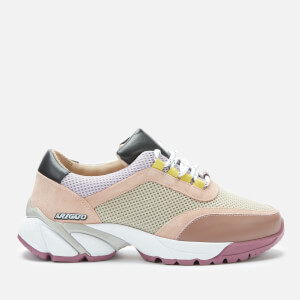 Axel Arigato Women's System Runner Style Trainers - Taupe/Beige/Purple