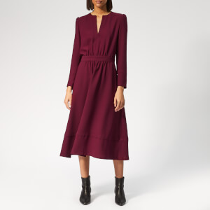 A.P.C. Women's Bing Dress - Bordeaux