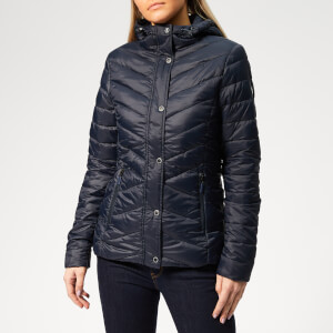 Barbour Women's Isobath Quilt Coat - Navy