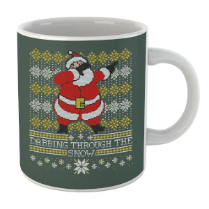 Dabbing Through The Snow Fair Isle Mug