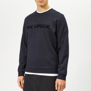 The Upside Men's The Redford Applique Logo Sweatshirt - Washed Black