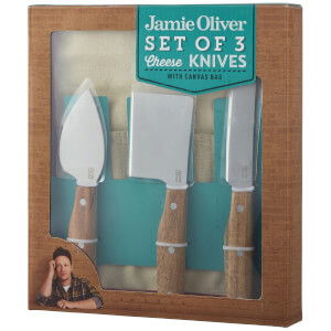 Jamie Oliver Cheese Knives with Wrap Bag