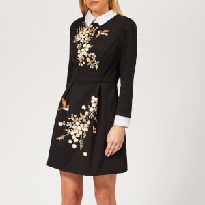 Ted Baker Women's Ellan Graceful Embroidered Dress - Black