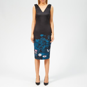 Ted Baker Women's Dinina Wonderland Bow Bodycon Dress - Dark Blue