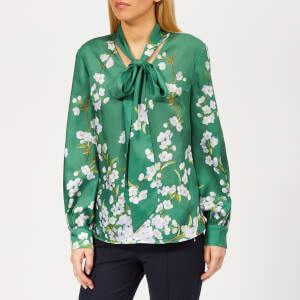 Ted Baker Women's Johsie Graceful Ruffle Full Sleeve Top - Green