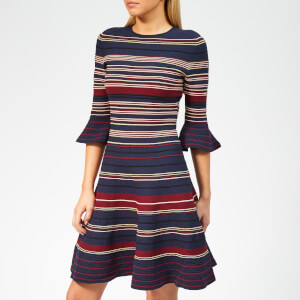 Ted Baker Women's Tayiny Stripe Ottoman Dress - Dark-Blue