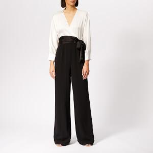 Diane von Furstenberg Women's Marle Jumpsuit - Black/Ivory