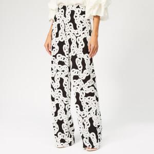 Diane von Furstenberg Women's Erica Chain Print Trousers - Crawling Chain Black